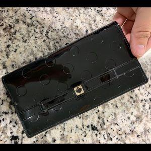 Kate Spade Black Patent Polka Dot Wallet